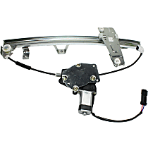 Front, Driver Side Power Window Regulator, With Motor - From 3-9-00