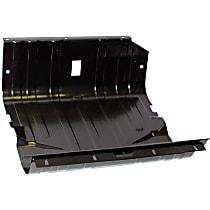 J5357023 Fuel Tank Skid Plate, Black, Steel, Direct Fit