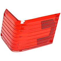 J5459552 Tail Light Lens - Passenger Side, Red, Plastic, Direct Fit, Sold individually