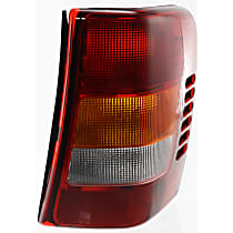 Passenger Side Tail Light, Without bulb(s) - Amber, Clear & Red Lens, From 11-01