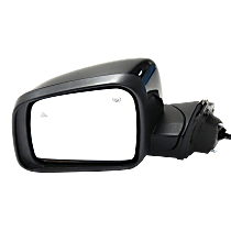 Mirror Power Folding Heated - Driver Side, Power Glass, In-housing Signal Light, With Blind Spot Detection in Glass, Paintable