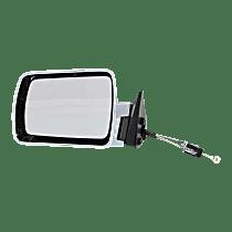 Mirror - Driver Side, Manual Remote, Chrome, Black Base