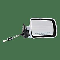 Mirror - Passenger Side, Manual Remote, Chrome, Black Base