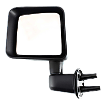 Mirror Manual Folding - Driver Side, Textured Black