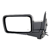 Mirror - Driver Side, Power, Heated, Folding, Textured Black, With Memory