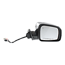 Mirror Manual Folding Heated - Passenger Side, Power Glass, In-housing Signal Light, Chrome
