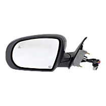 Mirror - Driver Side, Power, Heated, Folding, Paintable, With Turn Signal, Blind Spot Function, Puddle Lamp & Auto Dim, Muth Glass