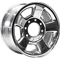 Jante Wheel, Aluminum, Polished, 17 in. x 8 in., Sold Individually