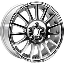 Jante ALY02228U20N Wheel, Aluminum, Silver, 16 in. x 6.5 in., Sold Individually
