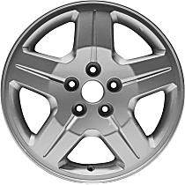 ALY02287U20N Silver Finish Wheel - 17 in. Wheel Diameter X 6.5 in. Wheel Width
