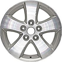 ALY02421U10N Silver Finish Wheel - 17 in. Wheel Diameter X 6.5 in. Wheel Width