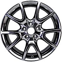 ALY02445U79N Black Finish Wheel - 17 in. Wheel Diameter X 7.5 in. Wheel Width