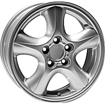 ALY03384U20N Jante Wheel, Aluminum, Silver, 16 in. x 6 in., Sold Individually