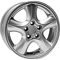 Jante ALY03384U20N Wheel, Aluminum, Silver, 16 in. x 6 in., Sold Individually