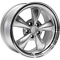 Jante Wheel, Aluminum, Silver, 17 in. x 8 in., Sold Individually