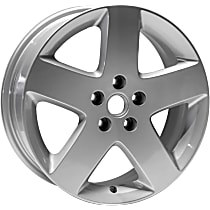 Jante Wheel, Aluminum, Silver, 17 in. x 6.5 in., Sold Individually