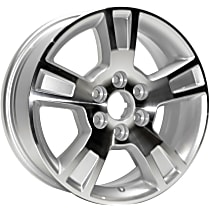 Jante ALY05280U10N Wheel, Aluminum, Silver, 18 in. x 7.5 in., Sold Individually