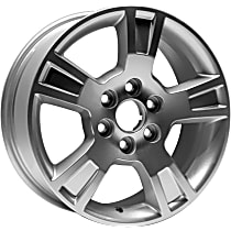 Jante ALY05280U20N Wheel, Aluminum, Silver, 18 in. x 7.5 in., Sold Individually