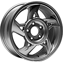 ALY06553U20N Jante Wheel, Aluminum, Silver, 16 in. x 6.5 in., Sold Individually