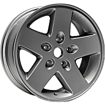 Jante ALY09074U20N Wheel, Aluminum, Silver, 17 in. x 7.5 in., Sold Individually