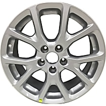 Jante ALY09130U20N Wheel, Aluminum, Silver, 17 in. x 7 in., Sold Individually
