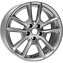 Jante Wheel, Aluminum, Silver, 18 in. x 8 in., Sold Individually