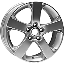 ALY64881U20N Jante Wheel, Aluminum, Silver, 17 in. x 6.5 in., Sold Individually
