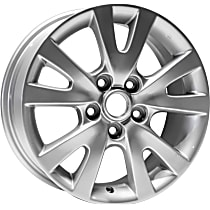 ALY64894U20N Jante Wheel, Aluminum, Silver, 16 in. x 6.5 in., Sold Individually