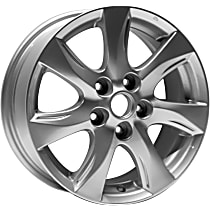 Jante ALY64927U20N Wheel, Aluminum, Silver, 16 in. x 6.5 in., Sold Individually