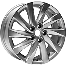 ALY64942U20N Jante Wheel, Aluminum, Silver, 17 in. x 7 in., Sold Individually
