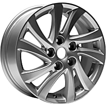 Jante ALY64946U20N Wheel, Aluminum, Silver, 16 in. x 6.5 in., Sold Individually