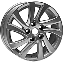 ALY64948U20N Jante Wheel, Aluminum, Silver, 16 in. x 6.5 in., Sold Individually