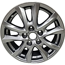 ALY64961U20N Jante Wheel, Aluminum, Silver, 16 in. x 6.5 in., Sold Individually