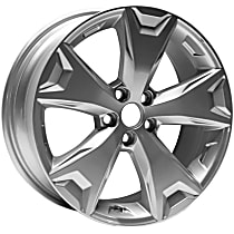 ALY68814U20N Jante Wheel, Aluminum, Silver, 17 in. x 7 in., Sold Individually