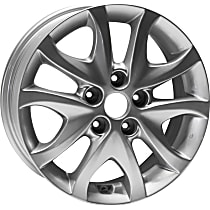 ALY70777U20N Jante Wheel, Aluminum, Silver, 16 in. x 6 in., Sold Individually