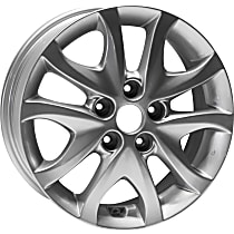 Jante ALY70777U20N Wheel, Aluminum, Silver, 16 in. x 6 in., Sold Individually