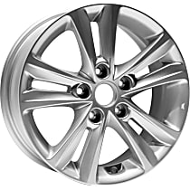ALY70802U20N Jante Wheel, Aluminum, Silver, 16 in. x 6.5 in., Sold Individually