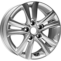 Jante ALY70802U20N Wheel, Aluminum, Silver, 16 in. x 6.5 in., Sold Individually
