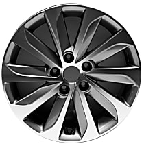 ALY70877U35N Jante Wheel, Aluminum, Gray, 17 in. x 7 in., Sold Individually