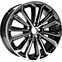 Jante ALY75152U45N Wheel, Aluminum, Black, 17 in. x 7 in., Sold Individually