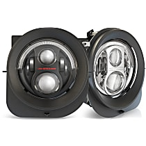 Driver and Passenger Side LED Headlight, With bulb(s)