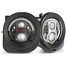0554263 Driver and Passenger Side LED Headlight, With bulb(s)