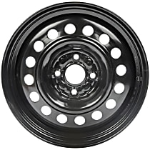 AutoWheels STL63828U45N Wheel, Steel, Black, 15 in. x 6 in., Sold Individually