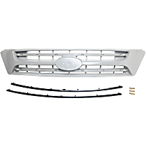 Grille Assembly - Gray Shell and Insert, Upper, with Black Insert Molding, without Sport Package