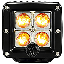 1315 Offroad Light - Powdercoated Black, Aluminum, Sold individually