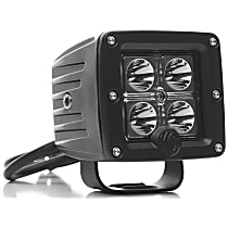1330 Offroad Light - Powdercoated Black, Aluminum, Sold individually