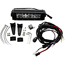334 LED Light Bar - Powdercoated Black, 10 in., Sold individually