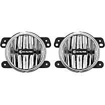 498 Front, Driver and Passenger Side Fog Light, With bulb(s)