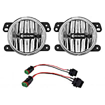 506 Front, Driver and Passenger Side Fog Light, With bulb(s)