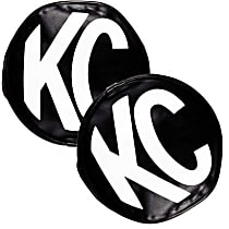 Offroad Light Cover - Black and White, Vinyl, Universal, Set of 2